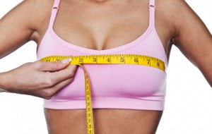 using measurements of the breast to help choose the best size breast implants